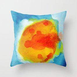 Sun Abstraction Throw Pillow