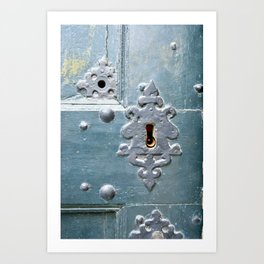 Old lock Art Print