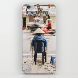 The passing of time in Hanoi, Vietnam iPhone Skin