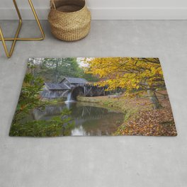 Rustic Mill in Autumn Rug