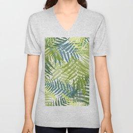Fern frond seamless pattern Unisex V-Neck