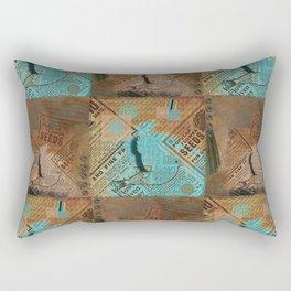 Paper Bird 3D Rectangular Pillow