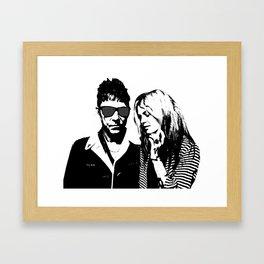 the_Kills - Black and White Framed Art Print