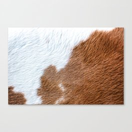 Cow Hide Print Pattern Canvas Print