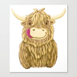 Wee Hamish Highland Cow Canvas Print