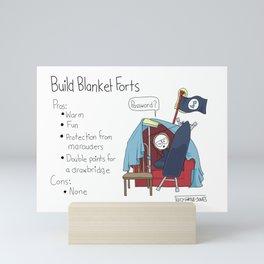 Build Blanket Forts Mini Art Print