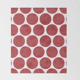 red polka dots Throw Blanket