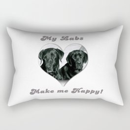 "Lab Love ""My Labs Make me Happy"" Rectangular Pillow"