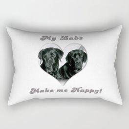 "Lab Love ""My Labs Make me Happy"" Rectangular Pillow"
