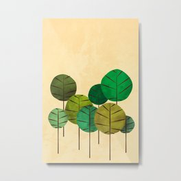 GREEN AUTUMN TREES Metal Print