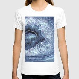 Steely Blue Quartz Crystal T-shirt