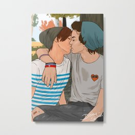 Skater!Larry Metal Print