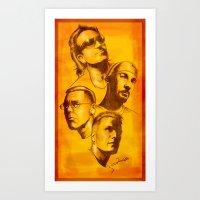 u2 Art Prints featuring U2 - Série Ouro by Renato Cunha