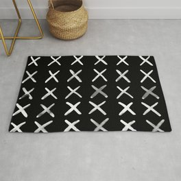 Contemporary X Paint Cross stich Pattern Rug