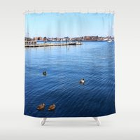 duck Shower Curtains featuring Duck by NaturallyJess