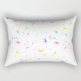 Dandelion Seeds Pansexual Pride (white background) Rectangular Pillow