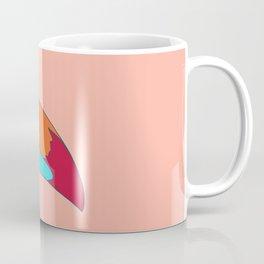 Toucan in flower crown monstera leaves Coffee Mug