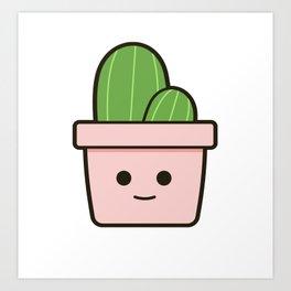 Happy Cactus 21.1 Art Print