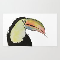 toucan Area & Throw Rugs featuring Toucan by Adele Manuti