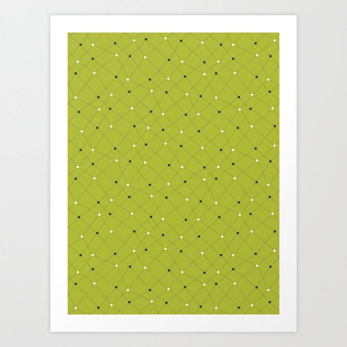 Chemistry Class Doodles - Lime Art Print