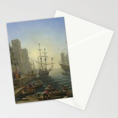 Seaport with the Embarkation of Saint Ursula by Claude Stationery Cards