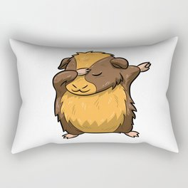 Dabbing Guinea Pig Shirt Hamster Cavy Dab Pet Gift Rectangular Pillow