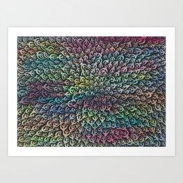 Zentangle®-Inspired Art - ZIA 43 Art Print
