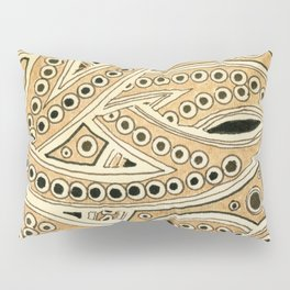 Golden Ribbons Pillow Sham