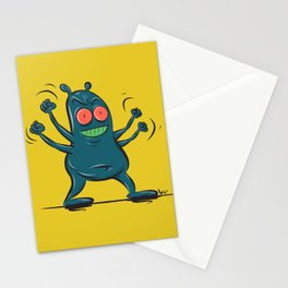 Grumpy monster Stationery Cards