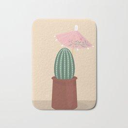 Cactus with parasol Bath Mat