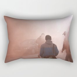 Red Smoke Streets Rectangular Pillow