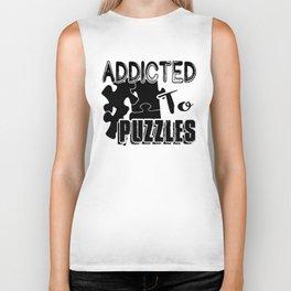 Addicted To Puzzles Shirt Biker Tank
