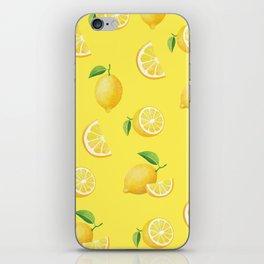 Lemons on Yellow iPhone Skin