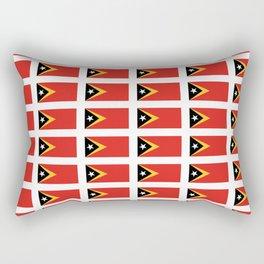 Flag of timor -Timor leste,Timór Lorosa'e , dili,tetum,Timorese,Maubere. Rectangular Pillow