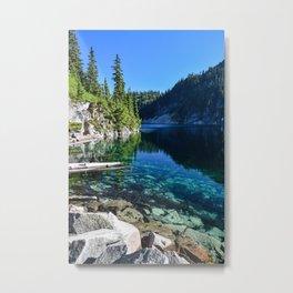 Snow Lake 2 Metal Print