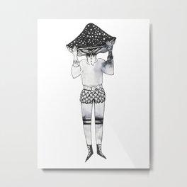 Amanita Mushroom Girl Metal Print