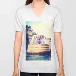 Fountain of Trafalgar Unisex V-Neck