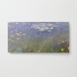 Water Lilies (Agapanthus) by Claude Monet (c.1915–1926) - Fine Art Collection Metal Print