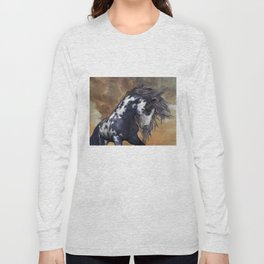 Storm, wild horse, fantasy Long Sleeve T-shirt