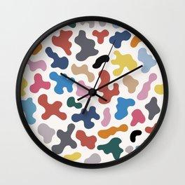 Colorful Organic Shapes Abstract Pattern Wall Clock