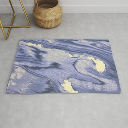 Lavender Marble With Cream Swirls Rug
