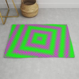 Dizzy Pink And Green Pattern Rug