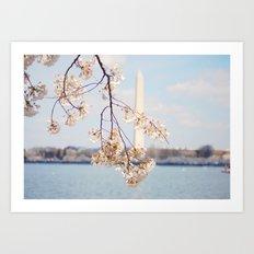 Washington Monument in the Spring Art Print