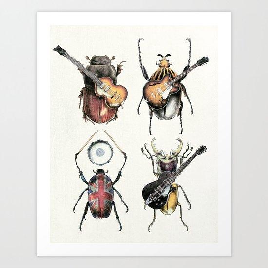 Meet the Beetles (white option) Art Print