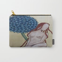 blue flower nude Carry-All Pouch