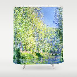 Monet: Bend in the River Ept Shower Curtain