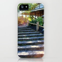 Japanese Tea Garden Stairs iPhone Case