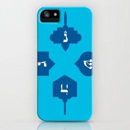 Dreidel in blue iPhone Case