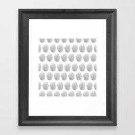Watercolour polkadot grey Framed Art Print