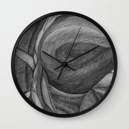 The Dream in Black and White Wall Clock